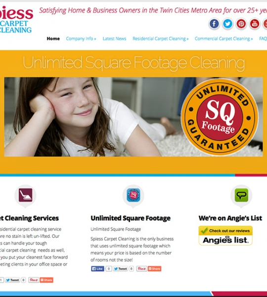 Spiess Carpet Cleaning Website