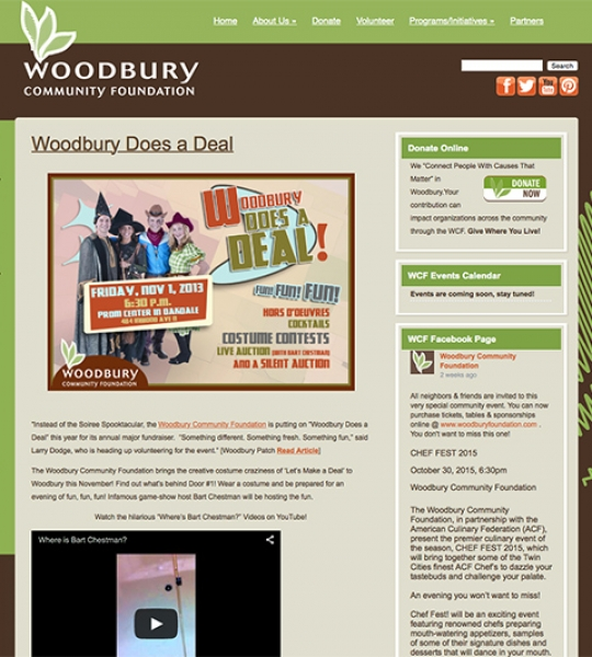 Woodbury Community Foundation Website