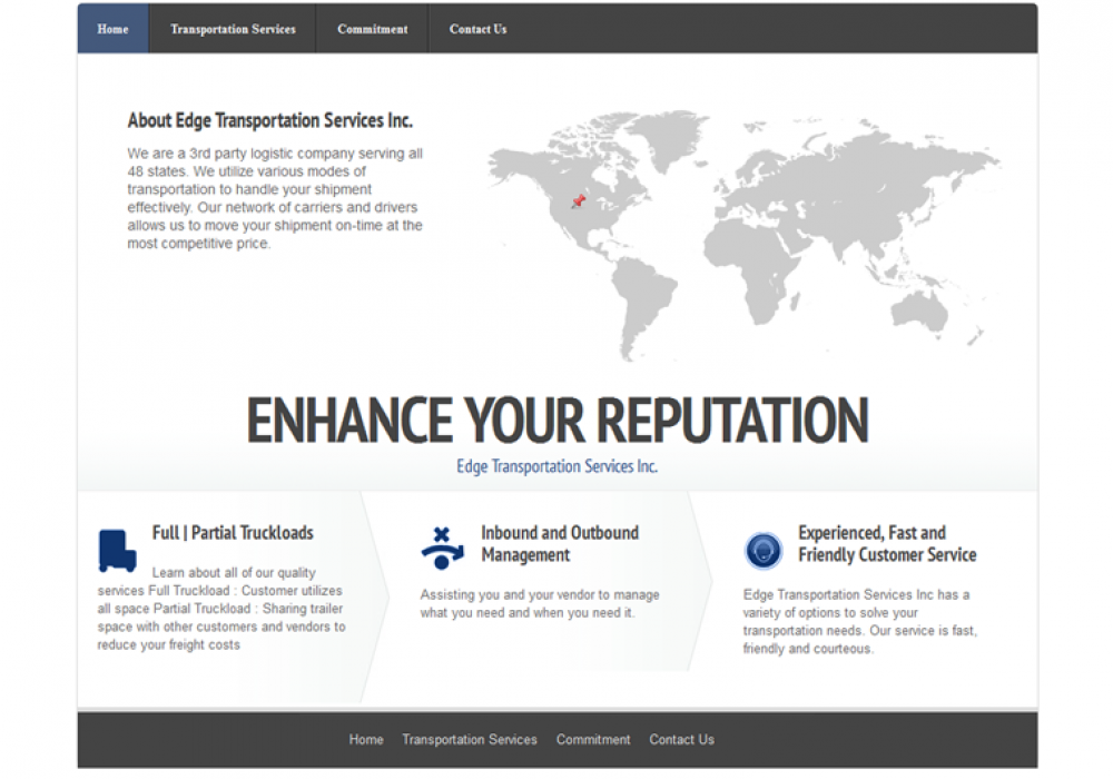 Edge Transportation Services Website
