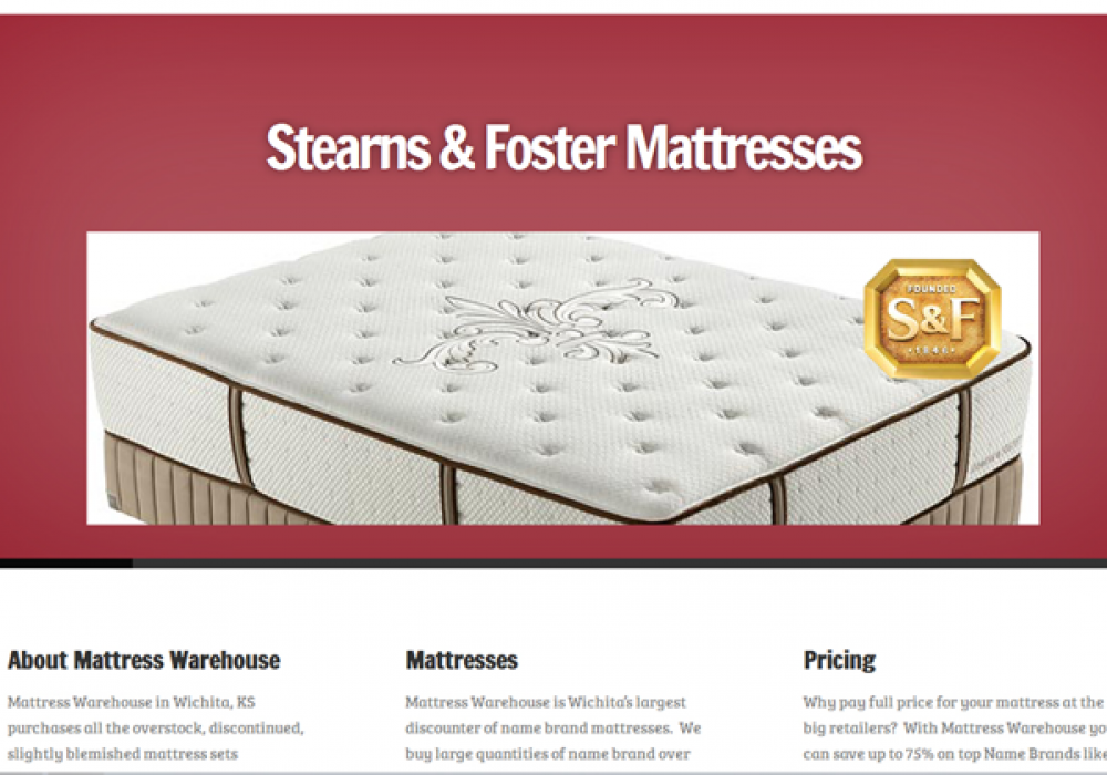 Mattress Warehouse Website